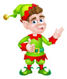 Thumbs Up Christmas Elf Royalty Free Stock Photography