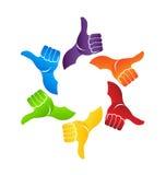 Thumbs up circle logo Stock Photos
