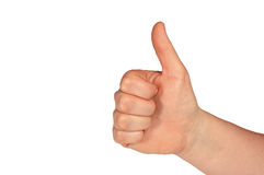 Thumbs Up  (with clipping path). Congratulations on a great job Royalty Free Stock Photography