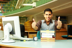 Thumbs up in college Royalty Free Stock Images