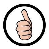 Thumbs up, comic style Royalty Free Stock Photos