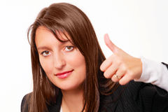 Thumbs up - confident female boss Stock Images