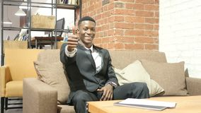 Thumbs Up by Confident Young Black Businessman stock footage