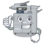 Thumbs up copier machine isolated in the cartoon. Vector illustration vector illustration