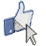 Thumbs up with cursor Stock Image
