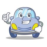Thumbs up cute car character cartoon Stock Photos