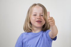 Thumbs up - cute kid Royalty Free Stock Images