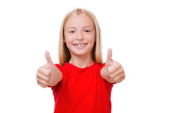 Thumbs up! Royalty Free Stock Images