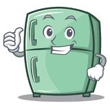 Thumbs up cute refrigerator character cartoon. Vector illustration stock illustration