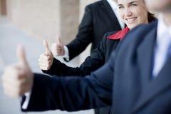 Thumbs-up di affari Immagini Stock Libere da Diritti