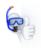 Thumbs Up! Diver Royalty Free Stock Image