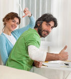 Thumbs up or down Royalty Free Stock Photo