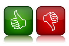 Thumbs up down. Thumbs up and down feedback buttons Stock Image