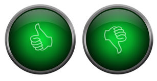 Thumbs up and down buttons Royalty Free Stock Photography