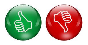 Thumbs up and down buttons Royalty Free Stock Photo