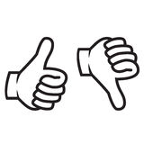Thumbs up and down gesture royalty free illustration