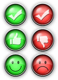 Thumbs up down good bad voting buttons Royalty Free Stock Image