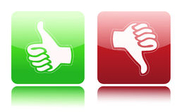 Thumbs up and down icon Royalty Free Stock Photo