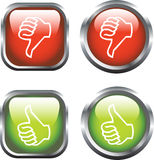 Thumbs Up / Down Icons Royalty Free Stock Photos