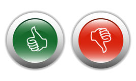 Thumbs Up & Down Icons Royalty Free Stock Photography