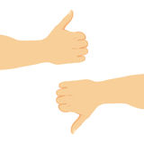 Thumbs Up And Down Stock Images