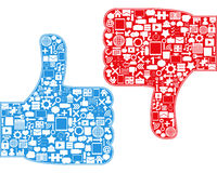 Thumbs Up/Down Symbols Stock Photos