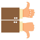 Thumbs Up and Down Stock Photography