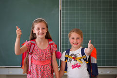 Thumbs up for education Stock Images