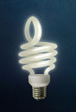 Thumbs up energy saving Lightbulb Stock Images