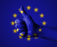 Thumbs up for the European Union Stock Photo