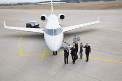 Thumbs up - executive business team corporate jet Royalty Free Stock Photo