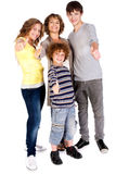 Thumbs-up family Stock Photography