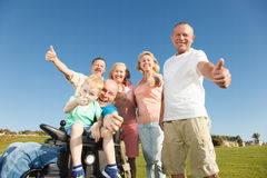 Thumbs Up Family. Royalty Free Stock Photography