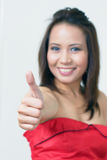 Thumbs up - focus on hand Royalty Free Stock Image