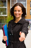 Thumbs up with folders. Stock Image