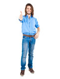 Thumbs up full length Stock Photos