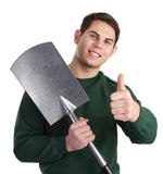 Thumbs up gardener Royalty Free Stock Photos