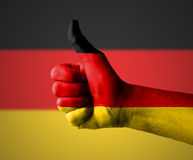 Thumbs up for Germany Royalty Free Stock Photography