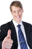 Thumbs-up gesture Stock Photography