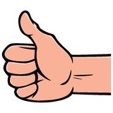 Thumbs Up Gesture. A vector illustration of a Thumbs Up Gesture Stock Photo