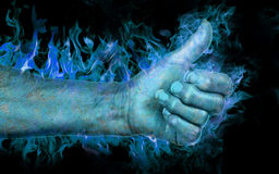 Thumbs up from the ghost Stock Photos