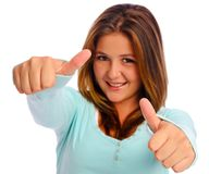 Thumbs up girl Royalty Free Stock Photo