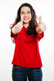 Thumbs up girl Royalty Free Stock Image