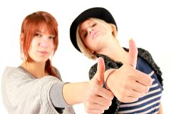 Thumbs up girls 2 Royalty Free Stock Photography