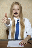 Thumbs up for the good contract Stock Images