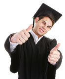 Thumbs up graduate Royalty Free Stock Image