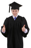Thumbs up graduate Stock Image