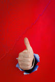 Thumbs up and graph Royalty Free Stock Image