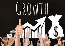 Thumbs up growth Stock Images