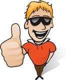 Thumbs up guy. Guy showing thumb up and smiling Royalty Free Stock Image